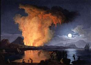 View of the Eruption of Mount Vesuvius