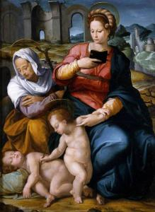 Virgin and Child with St Elizabeth and the Infant Baptist