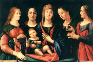 Mary and Child with Sts Mary Magdalene and Catherine