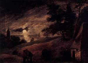 Dune Landscape by Moonlight