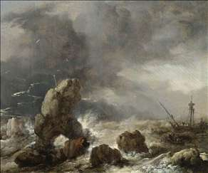 Ships Foundering in Stormy Seas