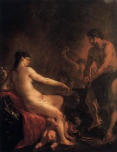 Venus and Cupid in Vulcan's Forge