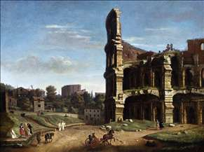 Rome: A View of The Colosseum
