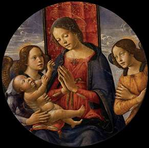 Virgin Adoring the Child with Two Angels