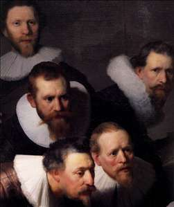 The Anatomy Lecture of Dr. Nicolaes Tulp (detail)