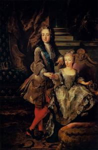 Portrait of Louis XV of France and Maria Anna Victoria of Spain