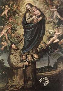 Vision of St Francis of Assisi