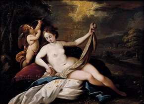 Venus and Cupid in a Landscape