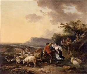 Shepherd And Shepherdess Dancing