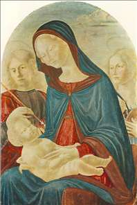 Madonna with Child, St Sebastian and St Catherine of Alexandria