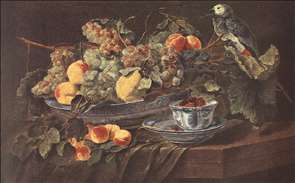 Still-life with Fruits and Parrot