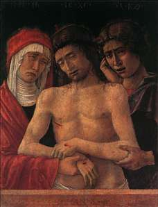 Dead Christ Supported by the Madonna and St John (Piet�)
