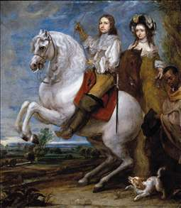 Equestrian Portrait of a Couple