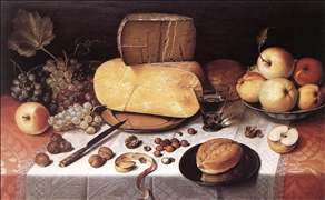Still-Life with Fruit, Nuts and Cheese