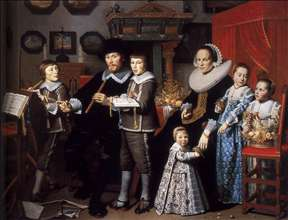 Portrait of Michiel van der Dussen and His Family