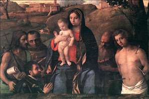 Madonna and Child with Four Saints and Donator