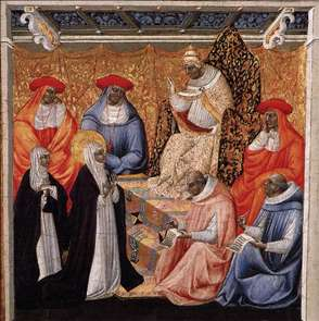 St Catherine before the Pope at Avignon
