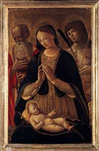 Madonna and Child with Sts Sebastian and Jerome