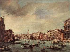 The Grand Canal, Looking toward the Rialto Bridge