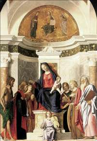 Madonna Enthroned with the Child
