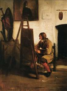 Young Painter in his Studio