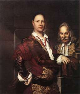 Portrait of Giovanni Secco Suardo and his Servant