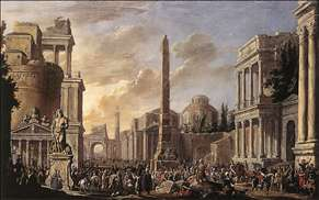 Antique Forum with a Triumphal Procession