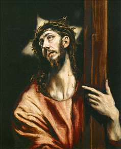 Christ Holding the Cross