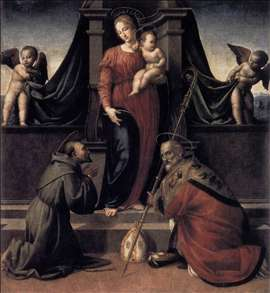 Virgin and Child with Sts Francis and Zenobius