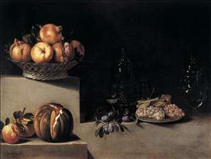 Still-Life with Fruit and Glassware