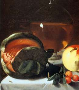 Still-Life with Fruit and a Carafe of White Wine (detail)