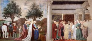 2. Procession of the Queen of Sheba; Meeting between the Queen of Sheba and King Solomon
