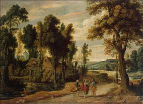 Landscape with Christ and his Disciples on the Road to Emmaus