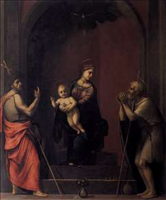 Virgin and Child with Sts John the Baptist and Job
