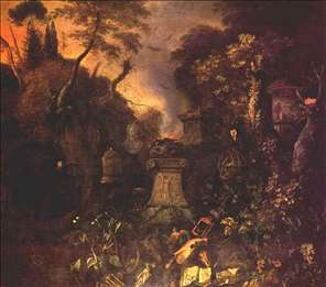 Landscape with a Graveyard by Night