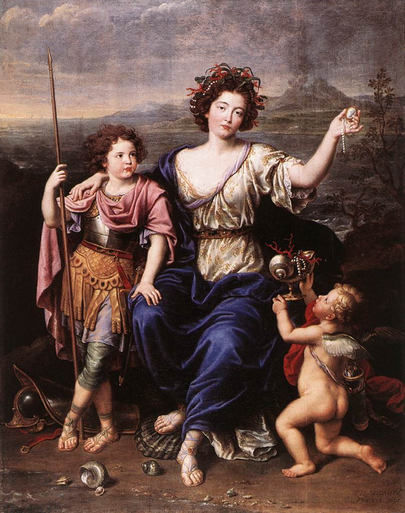 The Marquise de Seignelay and Two of her Children