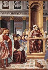 St Augustine Teaching in Rome