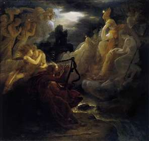 Ossian Awakening the Spirits on the Banks of the Lora with the Sound of his Harp