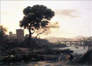 Landscape with Shepherds - The Pont Molle