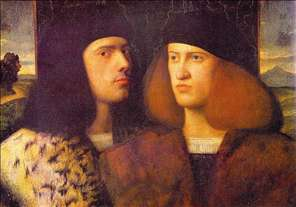 Portrait of Two Young Men