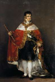 King Ferdinand VII with Royal Mantle
