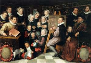 The Artist Painting, Surrounded by his Family