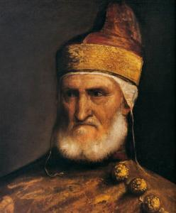 Portrait of Doge Andrea Gritti (detail)