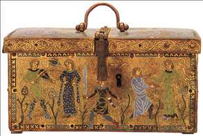 Casket with Scenes of Courtly Love