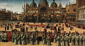 Procession in Piazza S. Marco