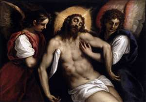 The Dead Christ with Two Angels