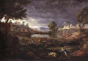 Strormy Landscape with Pyramus and Thisbe