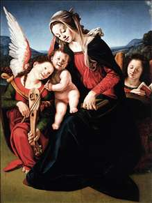 Virgin and Child with Two Angels