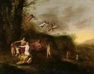 Bacchus and Nymphs in Landscape