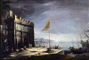 Capriccio of a Port Scene with a Classical Arch